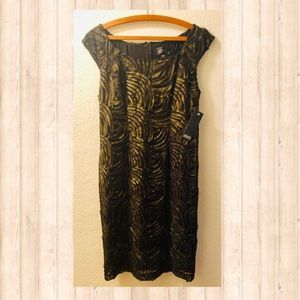 🖤 NWT Adrianna Pappel LBD black and gold Sz Sz 8